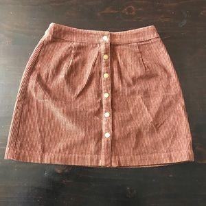 Brown corduroy skirt
